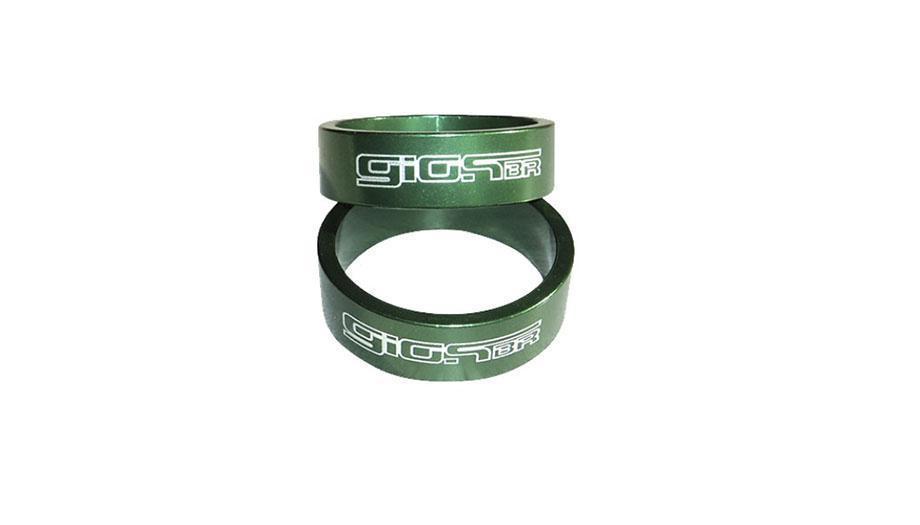 Espaçador Giosbr Alumínio WA-2810 Para Caixa de Direção 10mm Verde