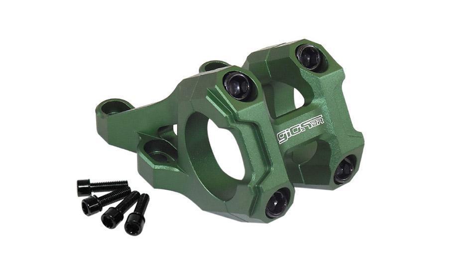 Suporte Guidão Giosbr Alumínio CNC BOXER-01 47mm Para Guidão 31.8mm Verde