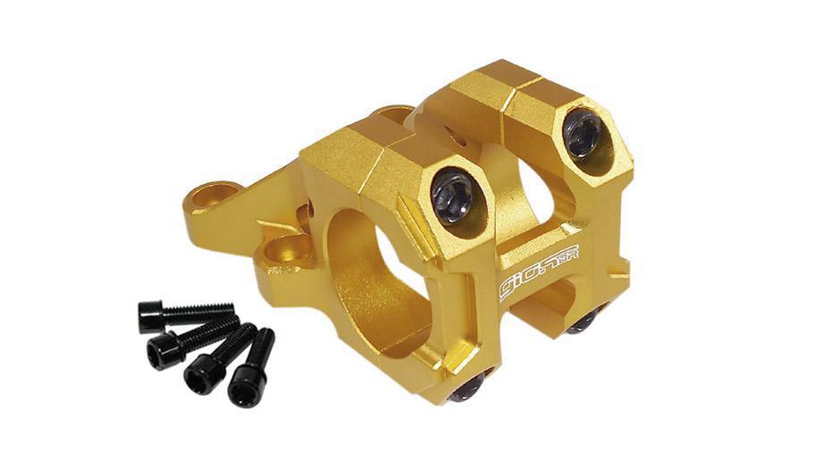 Suporte Guidão Giosbr Alumínio CNC BOXER-02 50mm Para Guidão 31.8mm Dourado